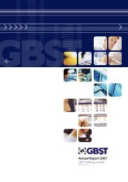 Annual Report 2007 - GBST