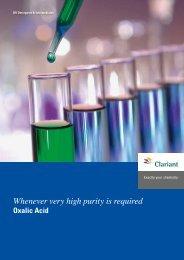 Oxalic Acid - Clariant