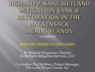 Richard P. Kane Wetland Mitigation Bank - Restore America's ...