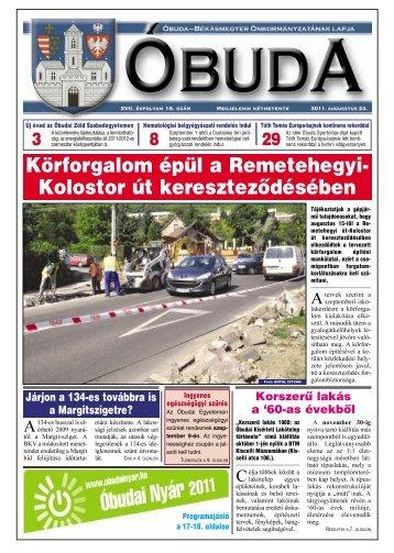 Óbuda Újság 2011/16. szám - Óbuda-Békásmegyer