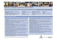 Stimmt | Customer Experience Forum 2009 - Customer Experiences ...