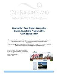 Destination Cape Breton Association Online Advertising Program ...