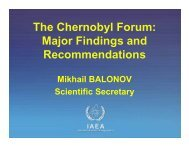 The Chernobyl Forum: Major Findings and Recommendations