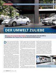DER UMWELT ZULIEBE - Mobility Concept
