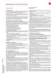Bedingungen für das Online-Banking - Kreissparkasse Eichsfeld
