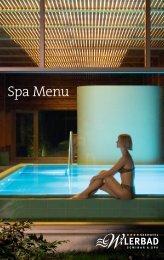 Spa Menu - Seehotel Wilerbad