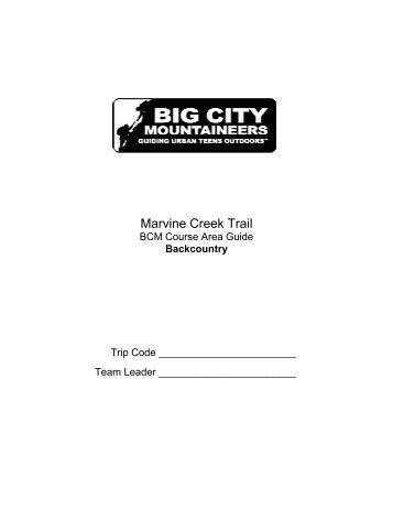 Marvine Creek Trail - Big City Mountaineers