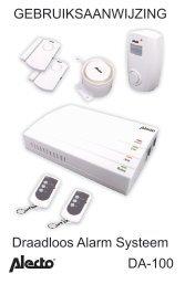 GEBRUIKSAANWIJZING DA-100 Draadloos Alarm Systeem - Hema