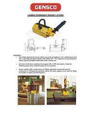 CANMAG PERMANENT MAGNET LIFTERS