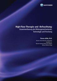 High-Flow-Therapie und -Befeuchtung: - Vapotherm
