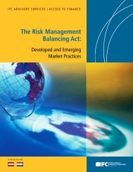 The Risk Management Balancing Act: - IFC
