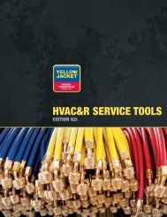 HVAC&R SERVICE TOOLS - Yellow Jacket