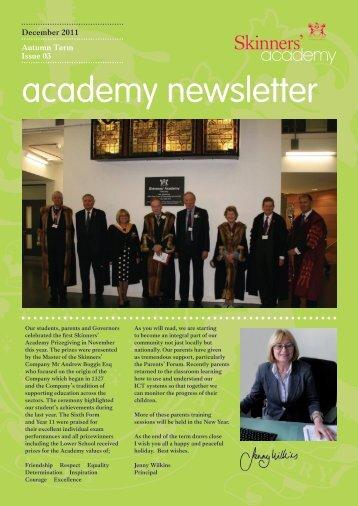 Newsletter 3 - Skinners' Academy