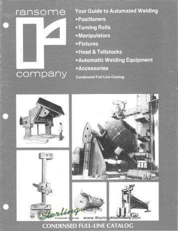 Ransome Automatic Welding Brochure - Sterling Machinery