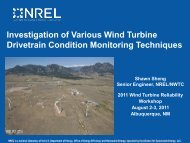 Investigation Of Various Wind Turbine Drivetrain Condition