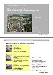 Führungsinstrumente in der Standortentwicklungs