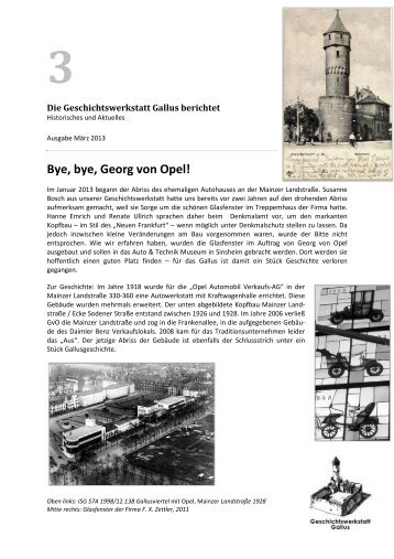 1926 im Gallusviertel, auf der Mainzer Landstrasse, eine erste ...