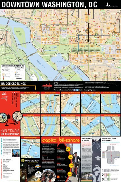 DC Bicycle Map - Oversize - District Department of Transportation on