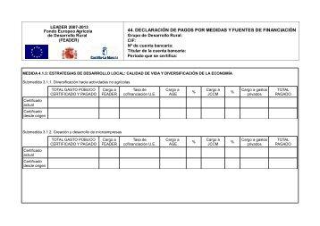 44. declaración de pagos por medidas y fuentes de financiación