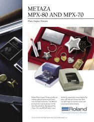 METAZA MPX-80 AND MPX-70 - Beacon Graphics