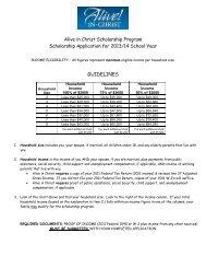 scholarship form - Sacred Heart Catholic Church