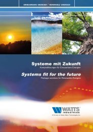 Systems fit for the future - Watts Industries
