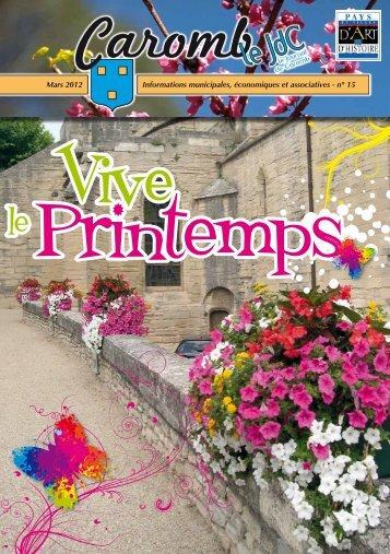 n° 15 Mars 2012 - Ville de Caromb