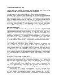 I radikální reformátoři ubrali plyn. Rozhovor pro časopis Esprit, 2012 ...