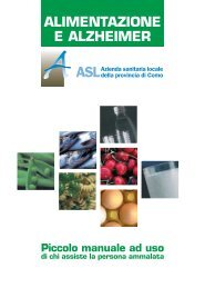 Alimentazione e Alzheimer - Asl Como