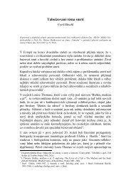Tabuizované téma smrti - Prof. MUDr. Cyril Höschl