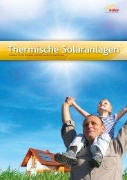 Thermische Solaranlagen Thermische Sola ... - Austria Solar