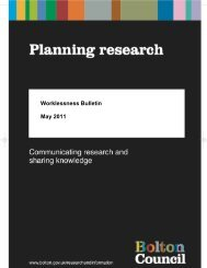 Worklessness Bulletin May 2011