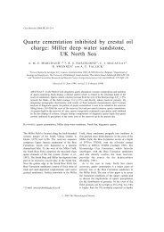Quartz cementation inhibited by crestal oil charge: Miller deep water ...