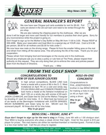 A report on my golf shop