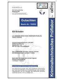 Gutachten Bearb.-Nr.: 702952 ED-Schaden - GOETH GmbH