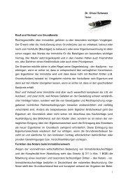 Kauf und Verkauf von Grundbesitz - Dr. Oliver Schwarz