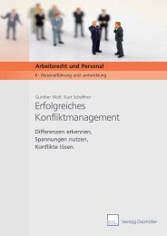 Erfolgreiches Konfliktmanagement - Probeseiten - I.O. Business