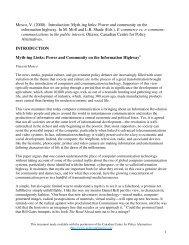 Myth-ing Links: Power and Community on the ... - Moya K. Mason