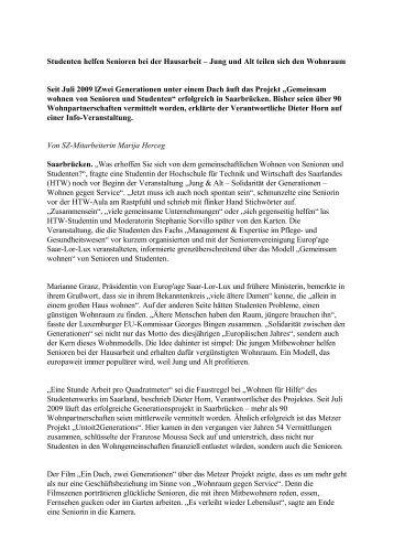 "Bericht Presse ""Saarbrücker Zeitung"""