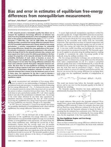 Bias and error in estimates of equilibrium free-energy differences ...