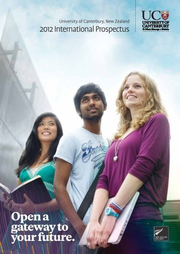 Open a gateway to your future. - University of Canterbury
