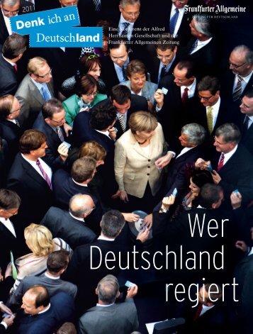 Denk ich an Deutschland - Alfred Herrhausen Gesellschaft