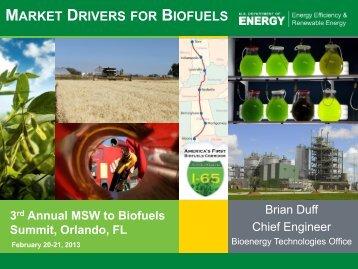 Market Drivers for Biofuels - EERE