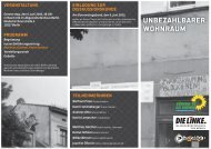 UNBEZAHLBARER WOHNRAUM - DIE LINKE. Berlin