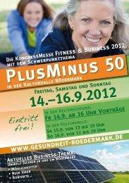 PlusMinus 50 - Messe Fitness & Business