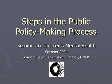 Steps in the Public Policy-Making Process - Children's Mental ...