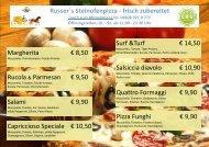 Pizzakarte