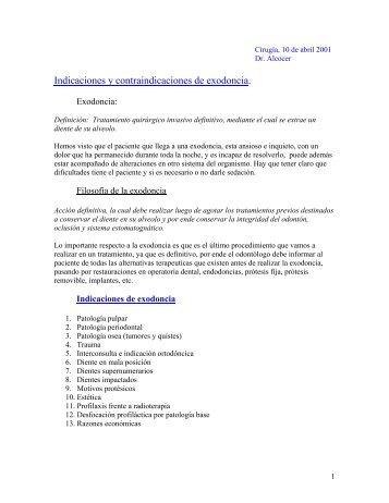Indicaciones y contraindicaciones de exodoncia. - radiodent