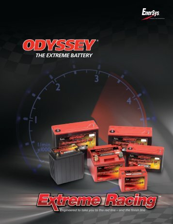Engineered to take you to the red line - ODYSSEY Batteries