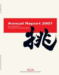 Annual Report 2007 - Takeda